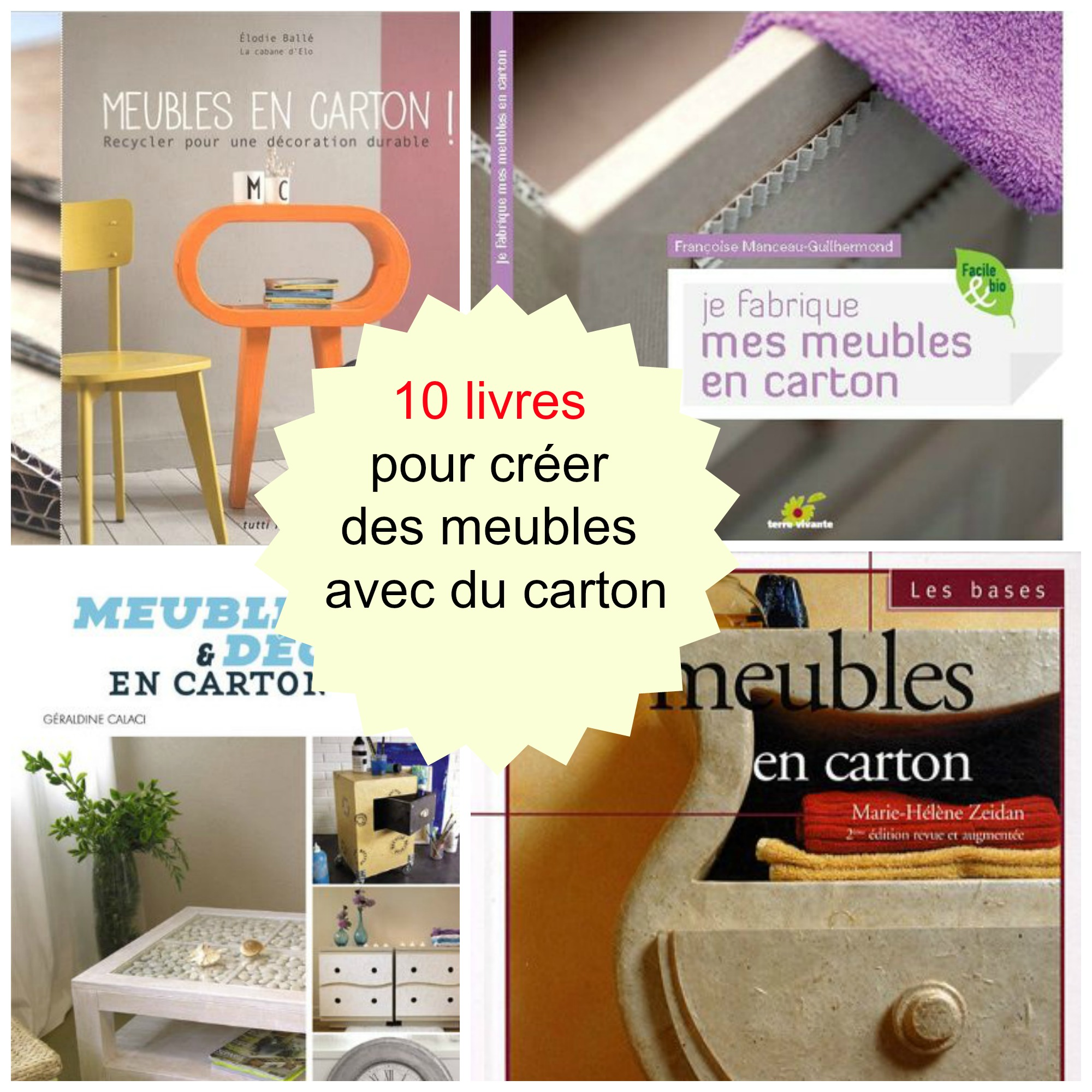10 livres pour faire des meubles en carton cartonrecup. Black Bedroom Furniture Sets. Home Design Ideas