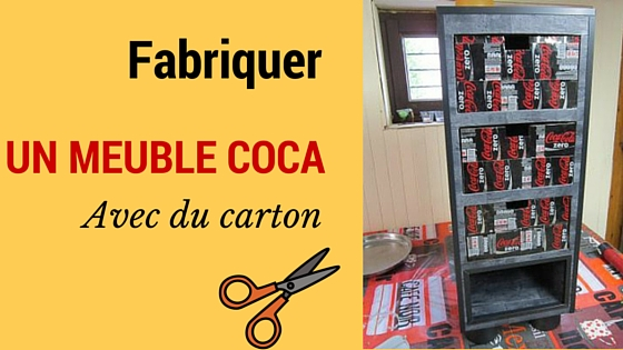 creation en carton le meuble coca carton cartonrecup. Black Bedroom Furniture Sets. Home Design Ideas