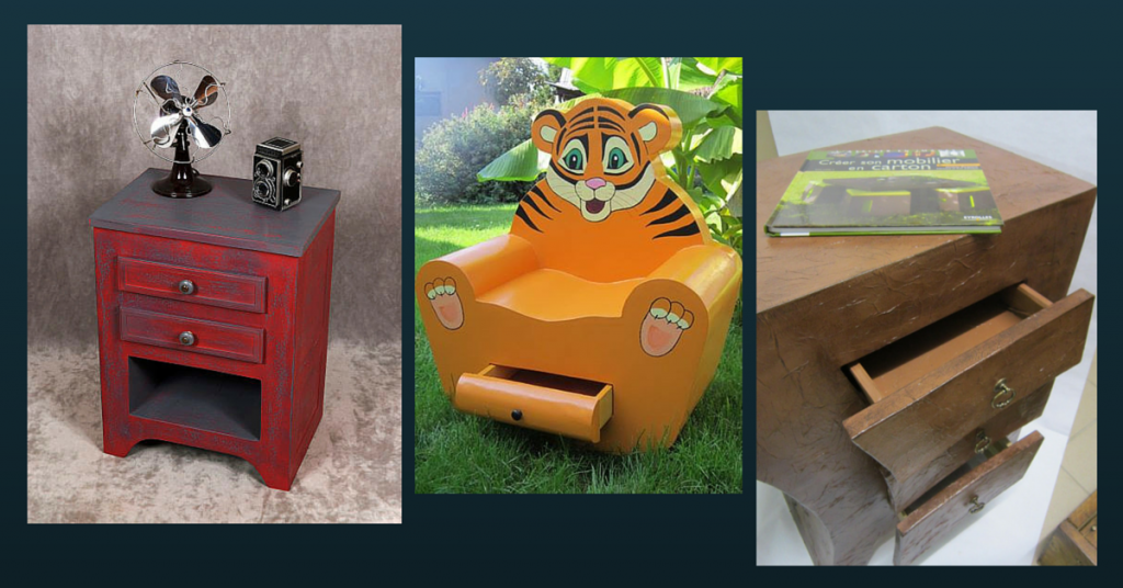 Fabriquer un meuble avec du carton - Patrons meubles en carton gratuit ...