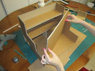 Un coffret maquillage pas cher cartonrecup - Fabriquer une boite a bijoux en carton ...