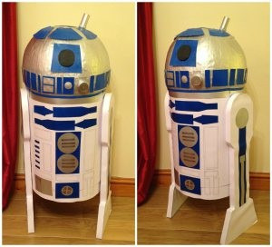 comment fabriquer un r2d2 en carton. Black Bedroom Furniture Sets. Home Design Ideas