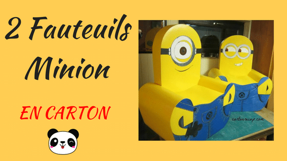 un fauteuil minion en carton cartonrecup. Black Bedroom Furniture Sets. Home Design Ideas