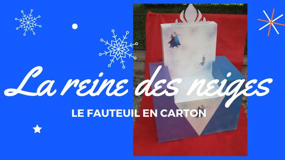 Un fauteuil reine des neiges en carton cartonrecup - Fauteuil la reine des neiges ...
