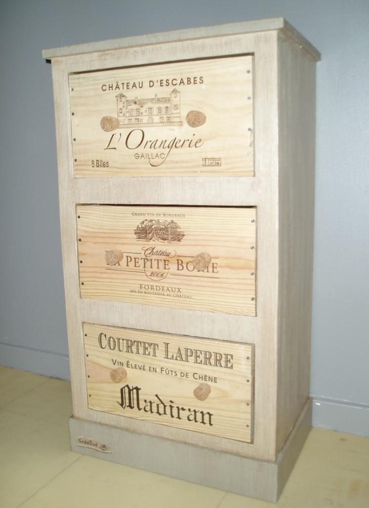 Fabriquer un meuble en carton par cr azo cartonrecup for Meuble caisse a vin