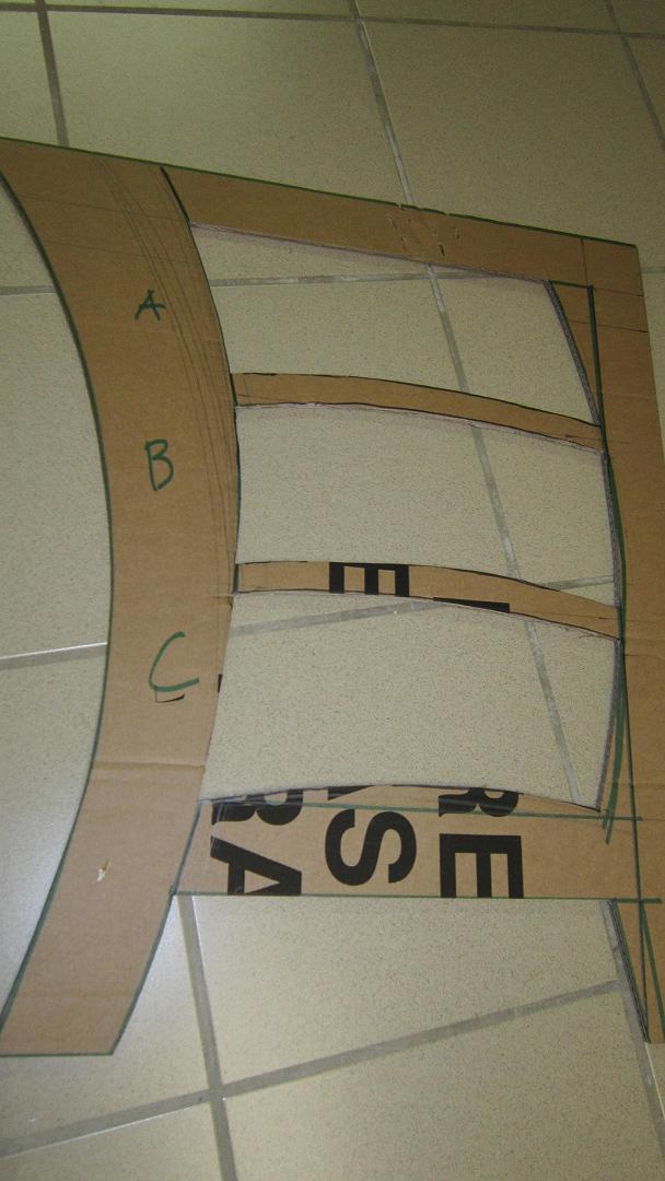 Meuble en carton courbe tutoriel en images cartonrecup - Patron meuble en carton gratuit ...