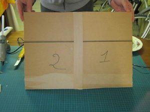 Une nouvelle plaque de carton