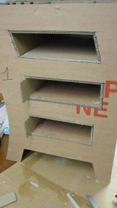 meuble en carton courbe tutoriel en images cartonrecup. Black Bedroom Furniture Sets. Home Design Ideas
