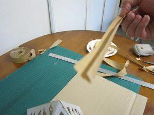 Mise en place du papier kraft