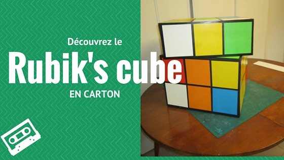 un rubik 39 s cube en carton cartonrecup. Black Bedroom Furniture Sets. Home Design Ideas