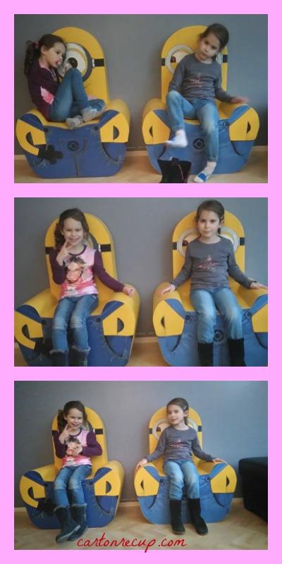 2 fauteuils en action