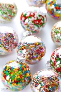 Boule de Noël paillettes