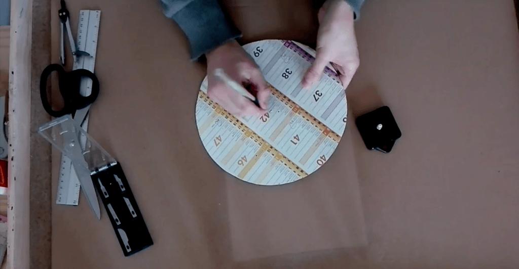 Perçage du cercle en carton